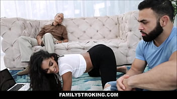 Young Latina Teen With A Big Ass Sex With Her Stepdad's Younger Brother