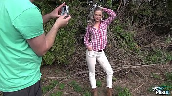 Bokep Vinna Reed convinced by ugly agent to fuck outdoors for very first time