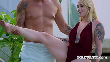 Blonde, tattoos, big tits, there's nothing not to love about Marica Chanelle when she has post yoga fun! This blowjob and titfuck master loves hardcore anal! Full Flick & 1000's More at Private.com!