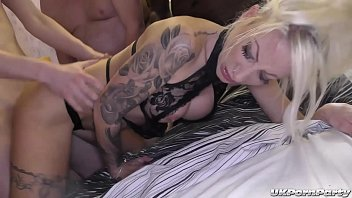 British swinger girls Bethany and jade get fucked in a gangbang