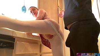 Bokep XXX Stepmom gets her hand stuck in the kitchen sink