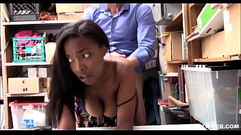 Young Thick Big Ass And Tits Black Ebony Daya Knight Caught Shoplifting