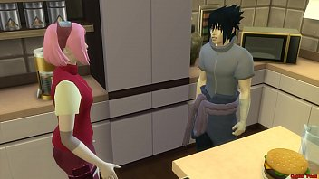 Sakura Fucked by the clones of Naruto Gangbang in front of Husband Sleeping Cuckold