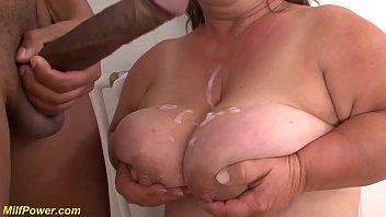 Bokep XXX hairy bush bbw midget houswife granny gets rough big black cock interracial fucked in crazy flexible sex positions