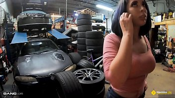 Roadside - Big Tits Nina Lopez Fucks Her Mechanic