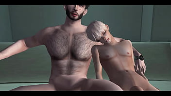 Femboy seduces his big cock step father while their family isn't home | 3D Yaoi Porn