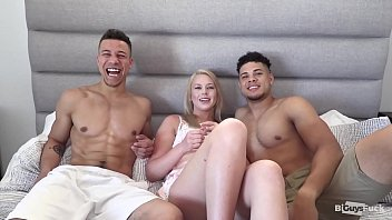 Two Big Bi Curious Cocks And One Hot Blonde That Loves Seeing Hot Guys Hook Up