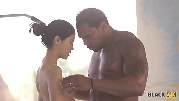 BLACK4K. Big cock of black bull stretches cunny of Madelina Dee to the full