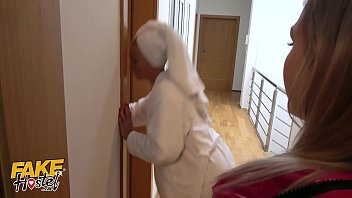 Fake Hostel Older women and teen lezzy 3way fuck fest in Europe hot