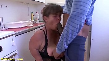 chubby saggy tits hairy midget grandma gets rough big black cock fucked by her stepson at her kitchen