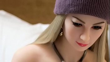 Cute blonde sex doll with beanie is looking for a big cock