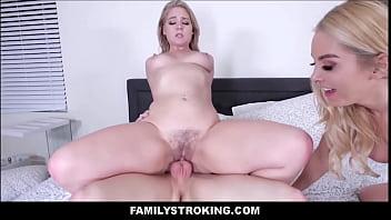 Horny Small Tits MILF Stepmom Sex With Sister & Stepson