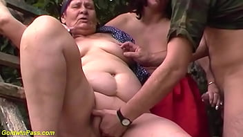 rough german outdoor family therapy threesome anal threesome lesson with our ugly fat grandma