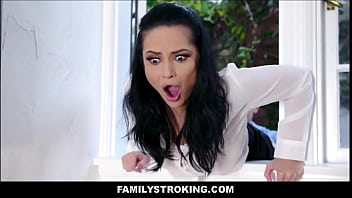 Big Tits MILF Latina Stepmom Gets It From Both Stepson's After Getting Stuck