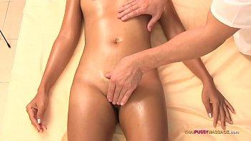 Asian girl receives bareback sex after oil massage