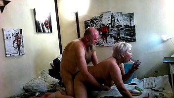 Lustful mature Russian bitch is fucked hard by a bearded orangutan)))
