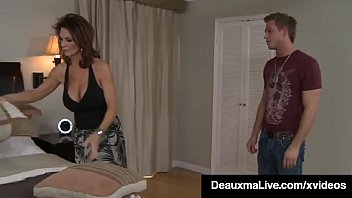 XXX Hot Big Titty Mommy, Deauxma spreads her shapely thighs & welcomes her son's friend's hard throbbing young dick inside her creaming mature muff! Full Video & Deauxma Live @ DeauxmaLive.com!