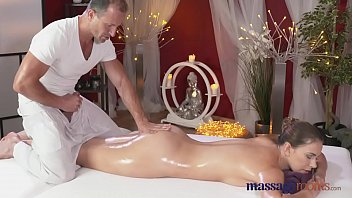 Oil massage ends up with fucking