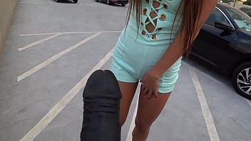 asian girl sucking on dildo
