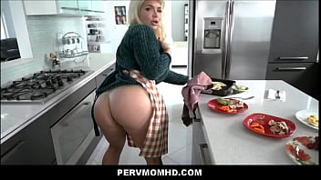Thick Big Ass Big Tits Hot MILF Step Mom Seduces Step Son In Family Kitchen POV