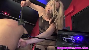Mistress binds sub before whipping him