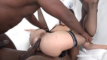 Sex-Crazed Bitch Sonya Durganova gets BLACKED out by 3 Huge Cocks