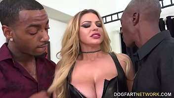 Big Black Cock Slut Brooklyn Chase Enjoys Doublepenetration In Front Of A Cuckold