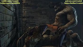Huge cocked monsters gangbang Psylocke hard 3D SFM rule 34 porn
