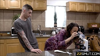 Older mother sexy time with young son