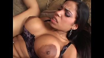 Luscious latina slut with amazing boobs and big red nipples Havana Ginger sucks white cock anf fucks in asshole