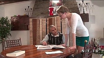 Bokep French teacher milf hard sodomized by her student and jizzed on body
