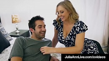 Porno Beautiful Step Mom Julia Ann, slobbers on her Step Son's hard young dick & shoving it into her moist mature muff, until he dumps his cum on her face! Full Video & Julia Live @ JuliaAnnLive.com!
