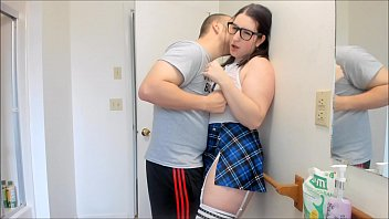 Young School Girl Gets Caught By Tutor And Pumped