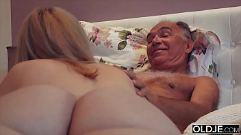 Bokep XXX 18 year old fucked by old man in his bed room hard and nice