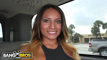 BANGBROS - Precious Latin Brunette Getting Dicked Hard In A Van