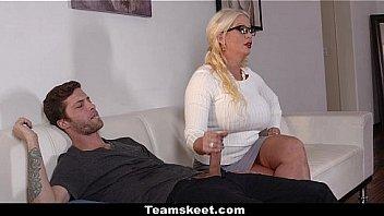Bad Milfs - Big Tits Stepmom (Alura Jensen) Threesome (DollyLeigh)