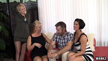 Bokep WANKZ- Group Sex with Hot Cougar MILFs