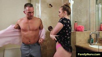 Porno Nuru massage with stepdaddy