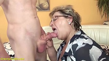 bbw mom in sexy nylon stockings loves rough sex with her big cock stepson
