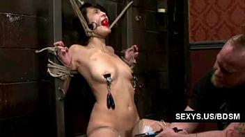 Asiatic girl bondage