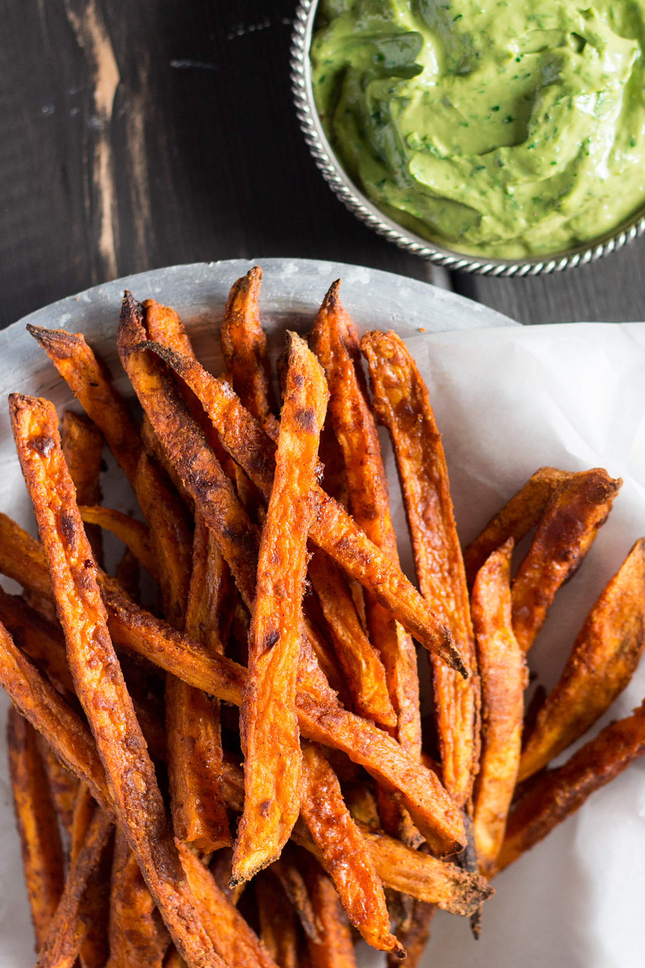 large kitchen pantry distressed wood cabinets crispy sweet potato fries with avocado-coriander dip ...