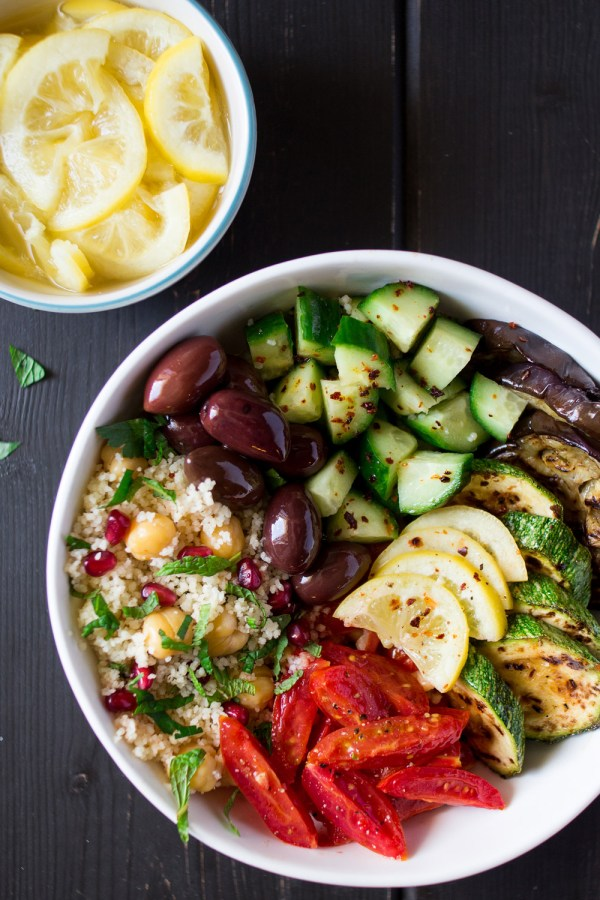 Moroccan salad bowl with preserved lemons Lazy Cat Kitchen