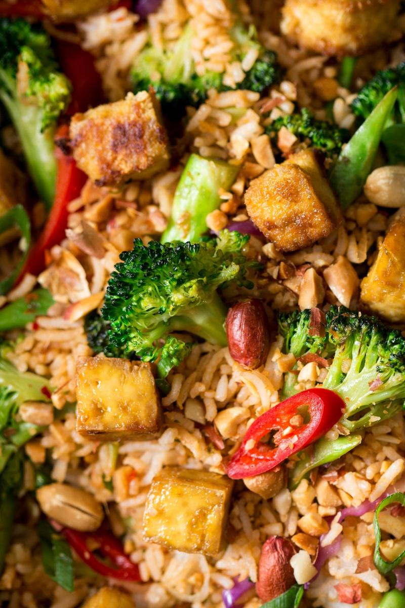 Nasi Goreng Vegetarian : goreng, vegetarian, Vegan, Goreng, Ginger, Kitchen