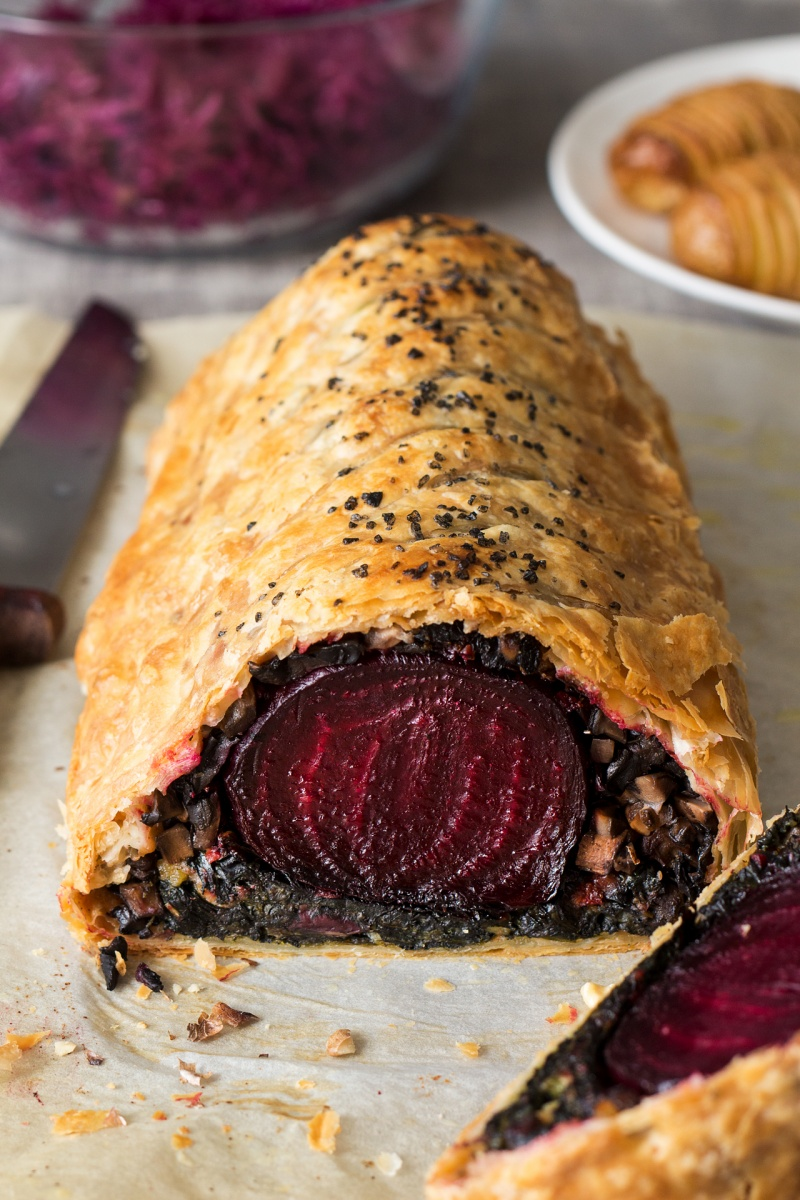 small eat in kitchen table sink paint beet wellington with balsamic reduction - lazy cat