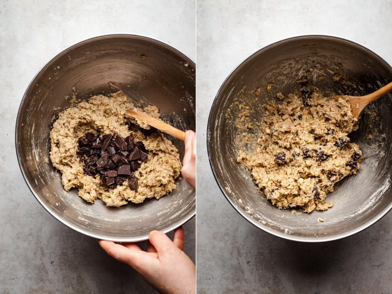 vegan oat cookies dough