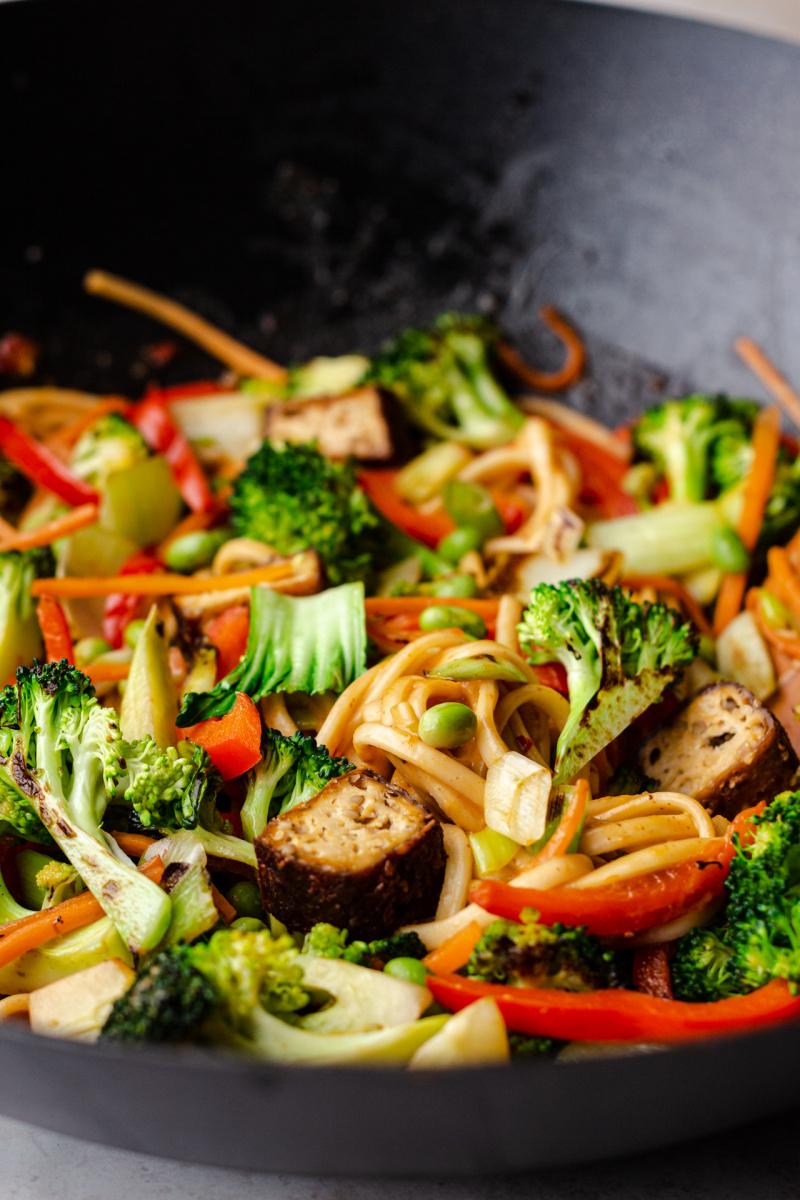 vegan satay noodles side