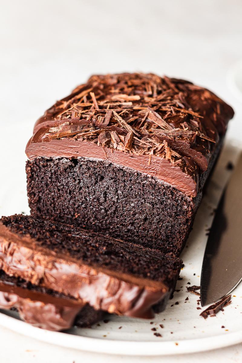 vegan beetroot chocolate cake sliced