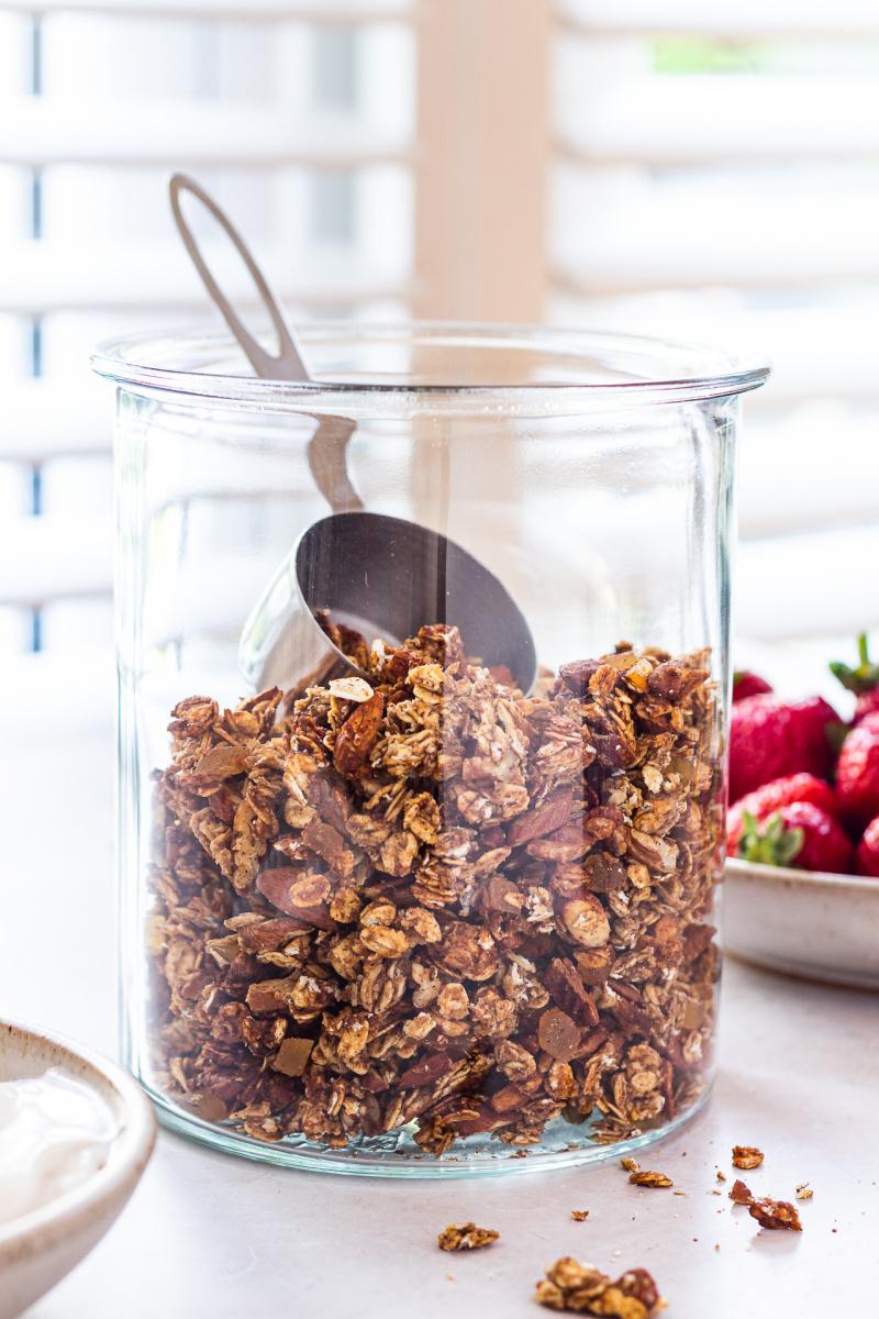 healthy granola jar