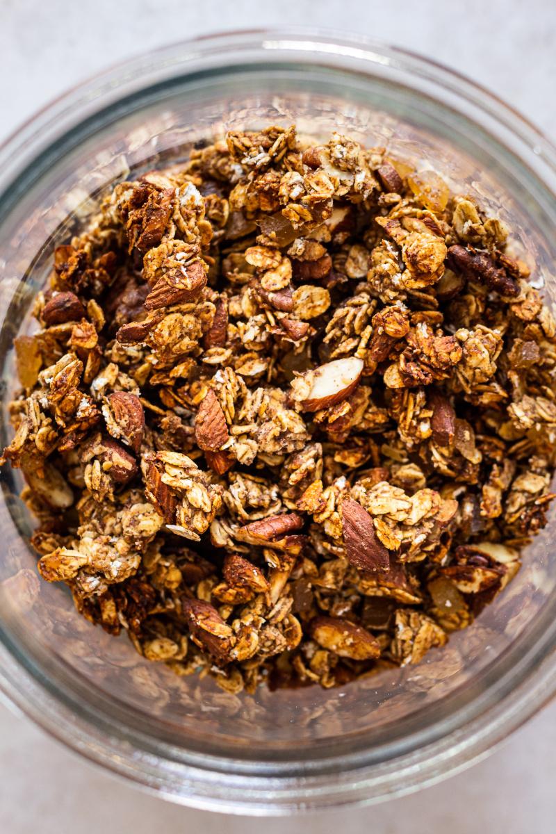 healthy granola jar top down