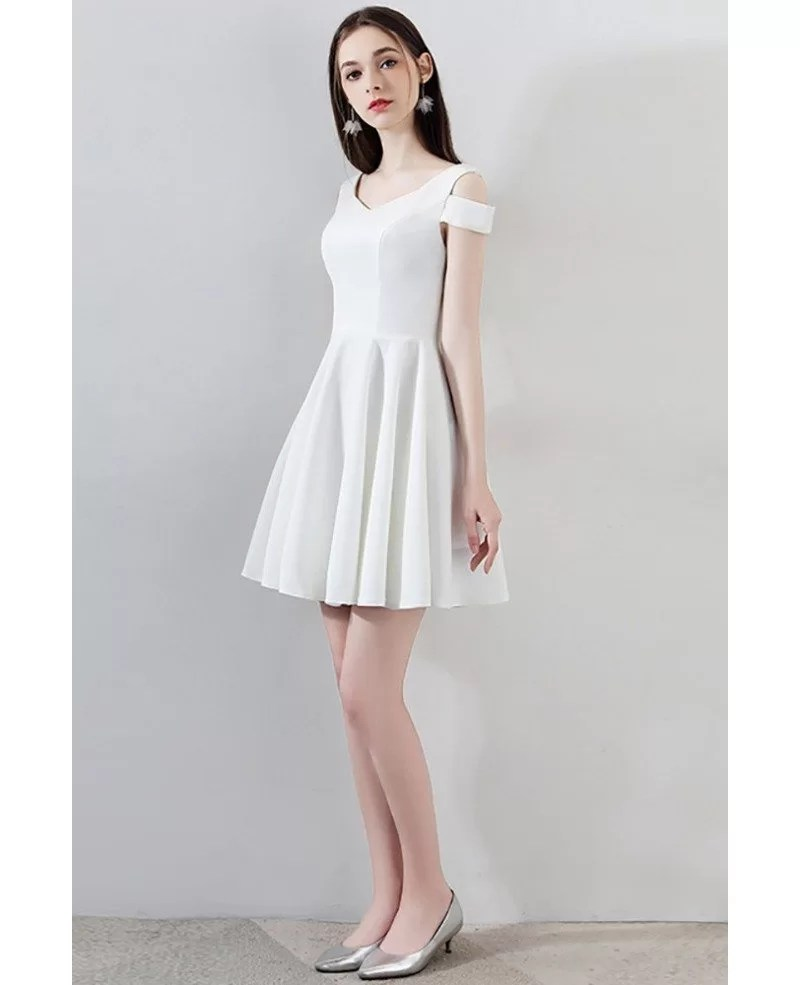 Simple Little White Short Homecoming Dress Aline Mxl86038 Gemgrace Com